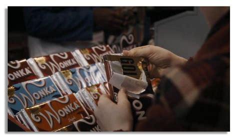 lot detail willy wonka prop chocolate bar golden ticket  onscreen