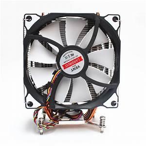 Lanshuo Cpu Silent Fan 4 Heat Pipe 3 Wire Dual Fan Without