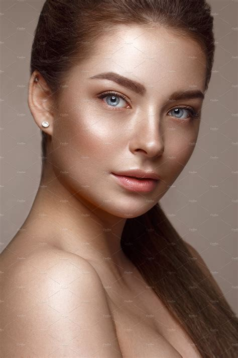 Beautiful Young Girl With Natural Nude Make Up Beauty Face ~ Beauty And Fashion Photos