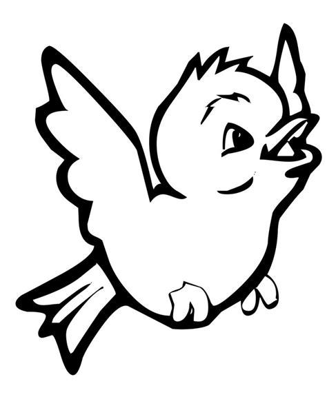 disegni per bambini da disegnare disegni di uccelli da colorare per bambini con uccellino