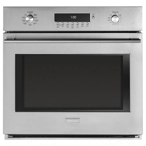 ge zetshss monogram    cu ft  cleaning single electric wall oven  stainless