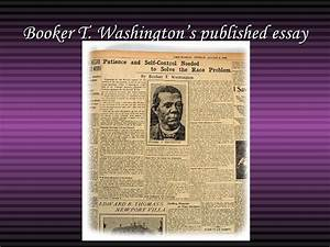 Booker t washington thesis statement