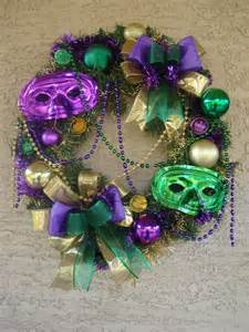 mardi gras wreath arrangement decoration mardi gras door wreath
