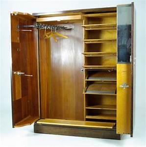 Armoire Art Deco : compactom armoire art deco mahogany wardrobe fitted closet b491 ~ Melissatoandfro.com Idées de Décoration