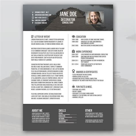 Creative Resume Templates Free Word by 37 Creative Resume Template Free