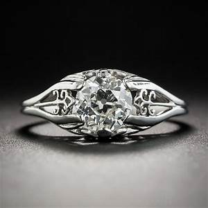 art deco 94 carats diamond solitaire engagement ring With wedding ring picture 94