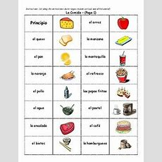 Spanish Food Vocabulary Dominoes By Heidi Sheldon Tpt