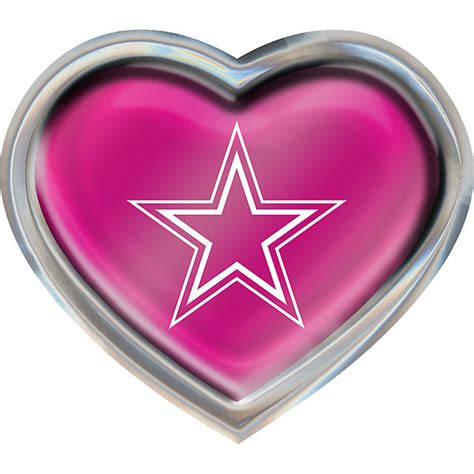 Dallas Cowboys Pink Heart Emblem Automotive