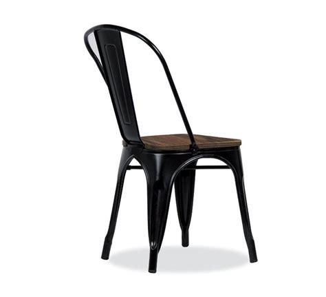 chaise metal noir chaise bistrot métal noir et bois industrielle 39 industry