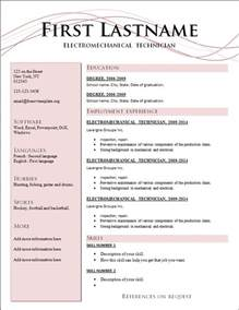 resume format new version free cv templates 205 to 211 free cv template dot org