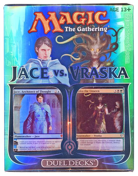 mtg jace illusion deck magic the gathering jace vs vraska duel deck da card world