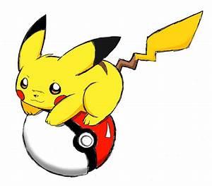 pikachu with pokeball photo