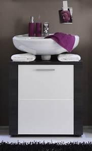 Badezimmer Grau Weiß : dreams4home waschbeckenunterschrank nizza badezimmer badm bel badezimmerm bel esche grau wei ~ Markanthonyermac.com Haus und Dekorationen