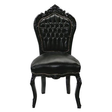 chaises simili cuir chaise baroque noir cuir louis xv simili cuir noir salle à