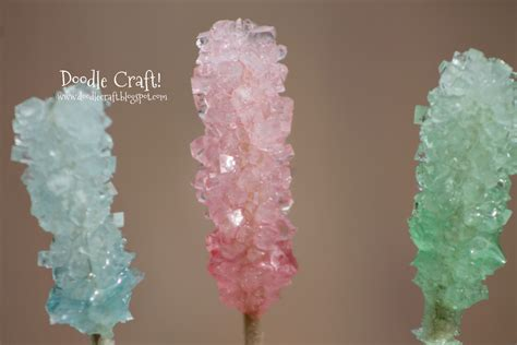 how to make rock on a stick doodlecraft homemade crystal rock candy