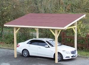 Abri Voiture En Bois : abri voiture bois 1 place toiture 1 pente ~ Nature-et-papiers.com Idées de Décoration