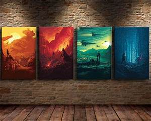 HD Print Abstract Oil Painting Wall Art Canvas,Star Wars ...