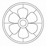 Mandala Blossom Kigaportal sketch template