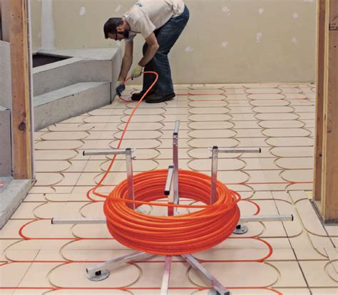 smarttrac above floor subfloor radiant heat panel solution pexheat com