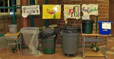 image of kitchen compost bin cafeteria recycling composting portland schools