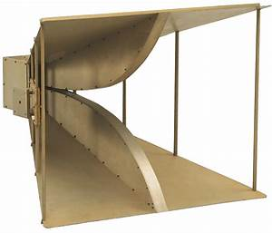 Transmit Or Receive  Double Ridge Horn Antenna  200 Mhz To 2 Ghz