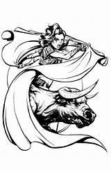 Matador Drawing Quickly Joel Vollmer April Approaching Getdrawings sketch template