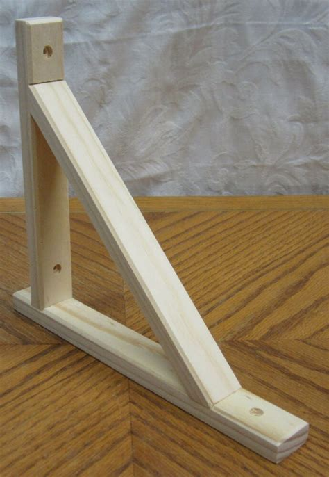 natural wooden decorative    shelf bracket