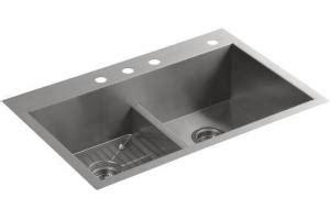 Kohler Vault Smart Divide Sink by Kohler Vault K 3838 1 Smart Divide Equal Sink