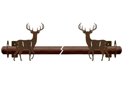 Deer Antler Curtain Rod Holders by Whitetail Deer Metal Curtain Rod Holders Rustic Curtain