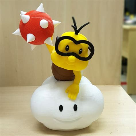 3D Printable Lakitu from Mario games - Multi-color by ...