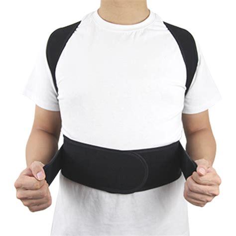 Shoulder And Full Back Support - Unisex Adjustable Posture ...