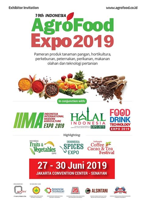 indonesia agro food expo  jadwal event info