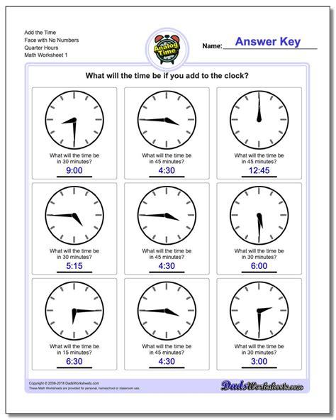 quarter hour time addition