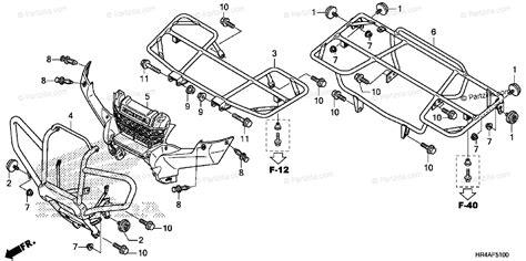 honda atv  oem parts diagram  carrier partzillacom