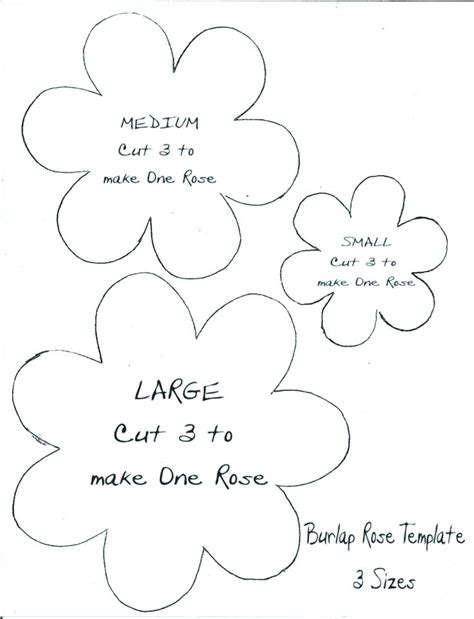 Burlap Flower Template by Template I Drew To Go With Quot The Mamas Quot Burlap