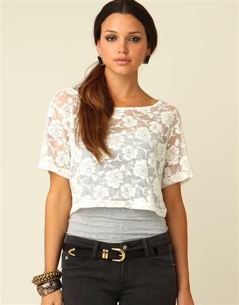 crop top blouse foreverstylestruck june 2011