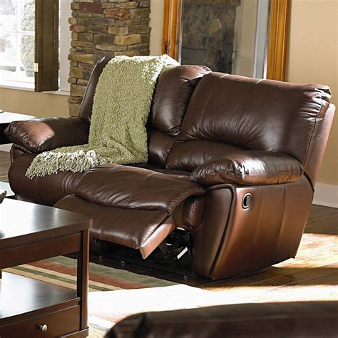 Loveseats That Recline by Coaster Clifford Brown Leather Reclining Seat