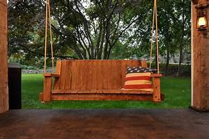 Wooden Porch Swing Free How To Build A Rustic Porch Swing