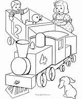 Coloring Train Caboose Trains Popular sketch template