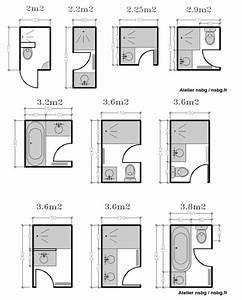 Salle D Eau 2m2 : les 20 meilleures id es de la cat gorie salle de bain 3m2 ~ Dailycaller-alerts.com Idées de Décoration
