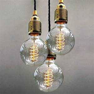 Set of three bulb pendant lights by unique s co