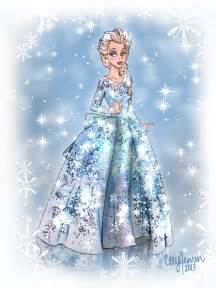Frozen Elsa Dress Drawing