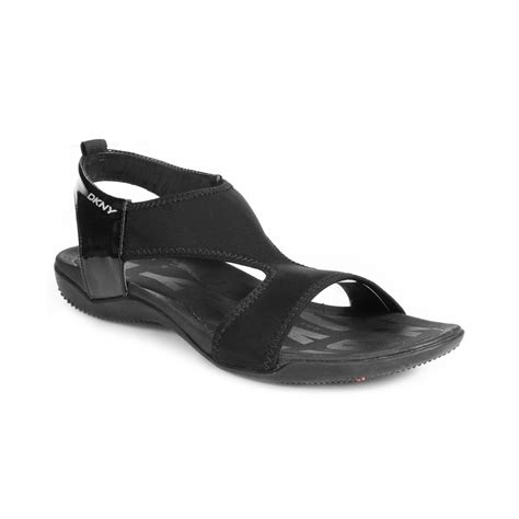 lyst dkny shoreline sandals  black