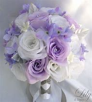 White and Lavender Wedding Flower Bouquet