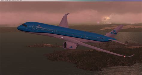fs freewarenet fsx klm airlines airbus  xwb  vc