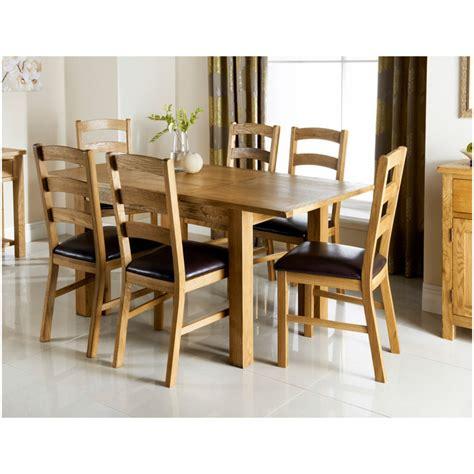 Wiltshire Oak Dining Set 7pc  Dining Room Furniture B&m