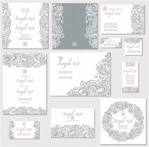 15 free wedding invitation vectors images free vector for Wedding invitation border design vector free download