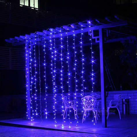 8ft led lights decorative 9 8ft 9 8ft 300 leds blue window curtain lights