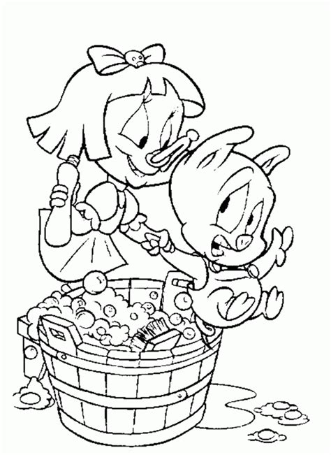 Porky Pig Coloring Pages Coloring Home