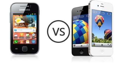 compare samsung phones samsung galaxy y s5360 vs apple iphone 4s phone comparison